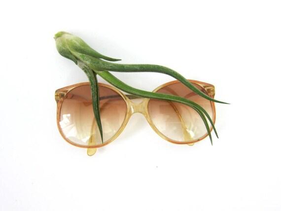 Vintage Eye Glasses Tinted eyeglasses with Gold Frames Bifocals Retro 1970s 1980s Eye Glasses Plastic Frames