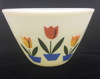 Vintage Fire King Tulip Mixing/Nesting Bowl by Anchor Hocking