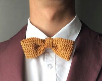Bowtie for men yellow/gold-golden yellow men's bow ties