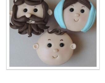 Joseph, Mary & Baby Jesus Cupcakes