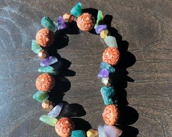 Jasper and Amethyst bracelet