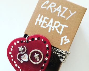 Crazy Heart necklace, YOU're collection