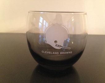Vintage Cleveland Browns Rocks Glass
