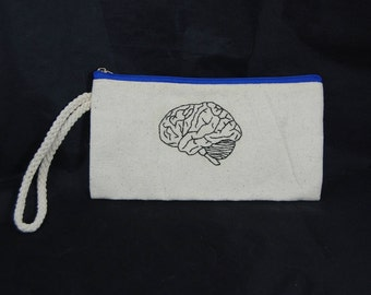 Brain Embroidered Pouch