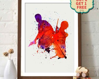 The Last Of US _ Watercolor Painting Wall Art Wall Decor Art Home Decor Wall Decor