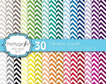 80% OFF SALE chevron digital paper, commercial use, scrapbook papers, background - PS565
