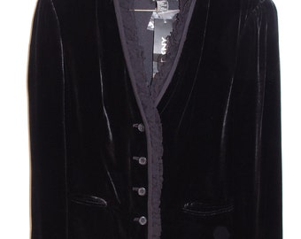 90s New with Tags DKNY Velvet Silk blend Jacket 6 S/M