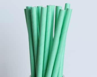 Mint Green Solid Paper Straws-Mint Green Straws-Mason Jar Straws-Party Straws-Wedding Straws-Paper Straws-Shower Straws-Cake Pop Sticks
