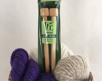 Clover Takumi Premium Bamboo Knitting Needles - Size 13 (9mm, UK 00)  - 9""