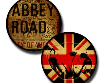The British Are Coming - 20mm and 25mm circles  - (2) digital downloads