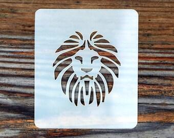 Lion Face Painting Stencil 7cm x 6cm 190micron Washable Reusable
