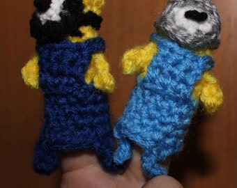 Lab Assistant Minion Finger Puppet Toy Crochet Pattern