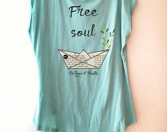 "Maglia T-shirt da sogno "" Free Soul"""