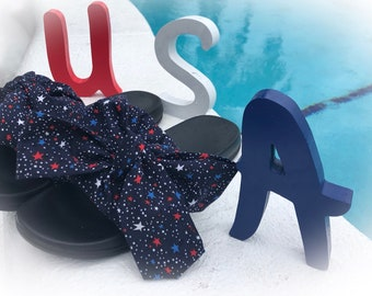 4th of July flat sandals flats usa flats with stars slides with bow slippers slides