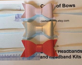 Baby Bow Headband Set, Baby Headband, Baby Bow Headband Set, Baby Headband Set, Faux Leather Headband Set, Bow Headband