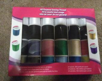 24 spools sewing thread