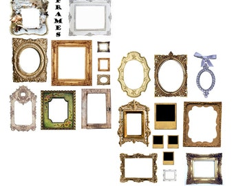 Fab Frames Digital Collage Sheets