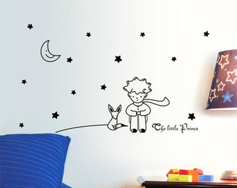 Prince wall decals etsy little prince nursery wall decal nursery decals wall decal nursery decor vinyl gumiabroncs Choice Image