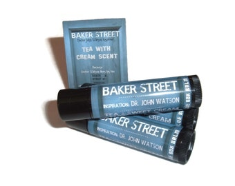 Baker Street - Tea & Sweet Cream Flavor Sherlock Inspired Lip Balm Geek Stix - John Watson