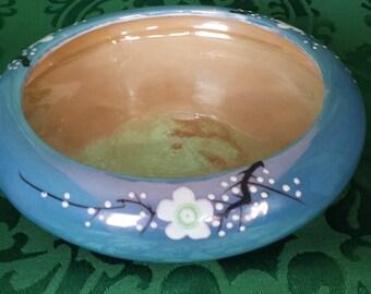 Japanese Cherry Blossom Luster Bowl/Planter