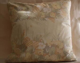 "17"" cushion cover vintage 1980s Collier Campbell Water Meadow 1"