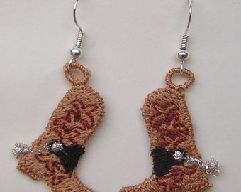 Cowboy Boot Earrings (1)