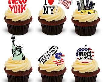 30 Stand Up New York City Edible Premium Wafer Paper Cake Toppers