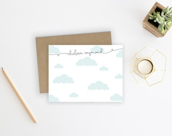 Personalized Stationery. Personalized Notecard Set. Personalized Stationary. Cloud Stationery. Cute. Fun. Stationary. Note Cards. Cloud.