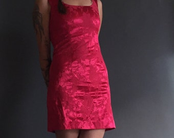 Vintage 90s Burnout Wiggle Bodycon Dress