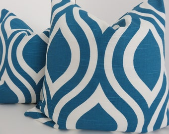 Blue White Pillow Cover- Blue Pillow Cover - Decorative Pillow- Home Accent - Home Decoration - Home Decor
