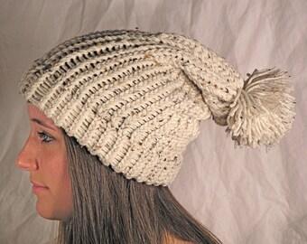 Oatmeal Fleck Slouch Hat