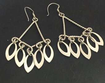 Moroccan Sterling Silver Triangle Earrings