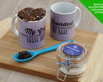 Present for grandad, Fathers Day, Grandad's birthday, grandads treat, mug cake kit, personalised grandad, special grandad, chocolate cake