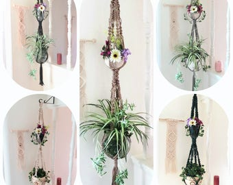 2 Tier Plant Hanger - Double Plant Hanger - 2 Tier Macrame - 2 Tier Plant Stand - Macrame Double Plant Hanger - Boho Macrame - Plant Holder