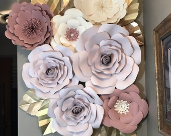 Large Paper Flower Backdrop/Nursery Decor ******Customize your Order********