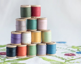 Satz von 14_cotton Nähen Threads_wooden Faden Spools_black weiß Blue_violet Lavendel Gray_red gelb Orange_pink Green_Valentines Tag Party