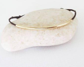 Tube Bracelet, Gold Tube Anklet, Bar Bracelet, Gold Bracelet, Brass, Gifts For Her, Bridesmaid Gift, Wedding Jewelry, BFF, Friendship Gift