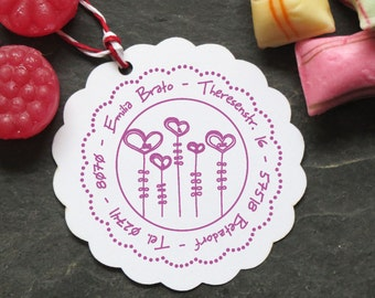 Families Stempel personalized flowers 40mm