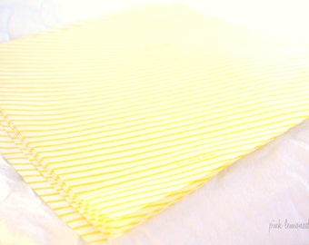 Yellow Stripe Wax PaPER-BeRRY BaSKET LiNERS-sandwich-krafts- Birthday Parties, Showers, Weddings-12ct