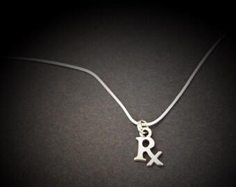 Pharmacist necklace, Pharmacy graduation gift, Pharmasist Jewelry, RX necklace, pharmacy school gift, pharmacy school graduation gift,