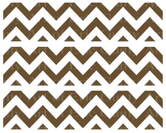 Brown Chevron Birthday - Designer Strips - Edible Cake Side Toppers- Decorate The Sides of Your Cake! - D22891