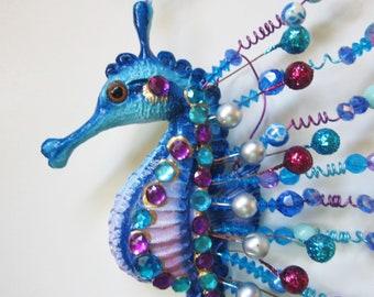 Seahorse home decor, seahorse wall decor, nautical wall hanging