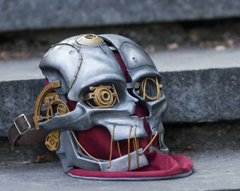 Dishonored 2 Corvo Attano cosplay costume Mask, Dishonoured Pc Game series steampunk outfit, Halloween prop