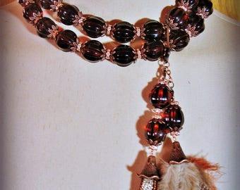 SPARKLING CIDER statement necklace