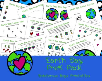 Earth Day PreK Printable Learning Pack