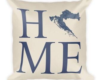Croatia Pillow, Croatia Gifts, Croatian Decor, Croatia Home, Croatia Throw Pillow, Croatia Art, Croatia Map, Croatia Cushion, Croatian Art