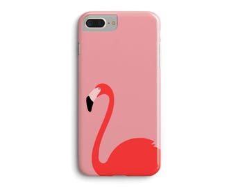 Pink Flamingo Phone Case, Flamingo Gift for Her, Coral Blush Pink 3D Phone Case iPhone 7 Plus iPhone 6 6S Plus iPhone 5 5S Galaxy Case _M