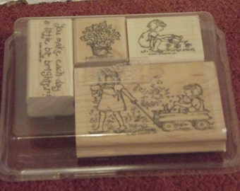 Stampin up 2001 Friendships Grow Rubber Stamp Set