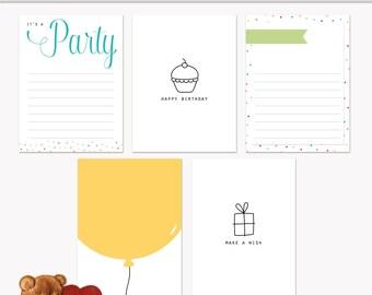 Diario para imprimir tarjetas de feliz cumpleaños para Scrapbook y proyecto vida descarga inmediata