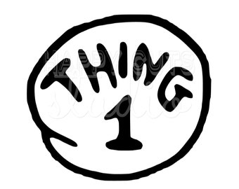 Thing 1 Iron On Matching Family Husband WIfe Brother SIster Sibling Halloween Iron on Vinyl Decal for Shirt
